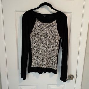 The limited black & gray textured long sleeve top